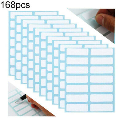 12 Sheets Self Adhesive Labels White Price Sticker Blank Name Number Tags Surpri