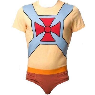 New He-Man Underoos Mens Unisex S-M-L-XL-2XL Licensed Underwear & Shirt Set