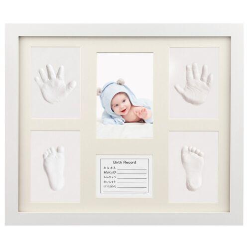 Baby 3D Gips Abdruck Handabdruck Fußabdruck Abform Set Bilderrahmen Fotorahmen