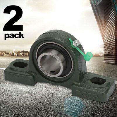 Ucp205-16 Pillow Block Bearing Premium 1 Inch Bore 2 Bolt Solid Base 2 Pieces