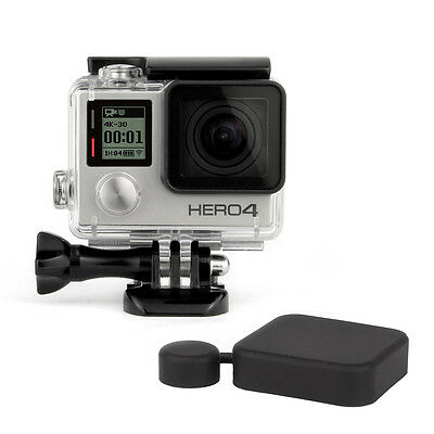 PREMIUM UnderWater Waterproof Dive Housing Case Gopro HD Hero 3+ 4 + Lens Cap
