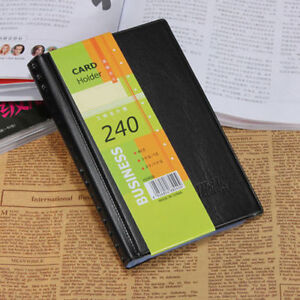 Business card book ebay leather 240 cards business name id credit card holder book case keeper organizer colourmoves Choice Image