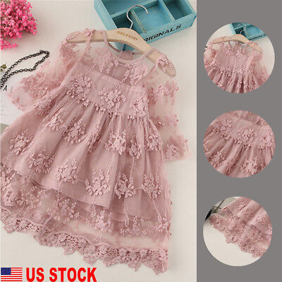 Toddlers Tutu Dress (US Toddler Kids Baby Girls Cute Long Sleeve Dress Princess Party Lace Tutu)
