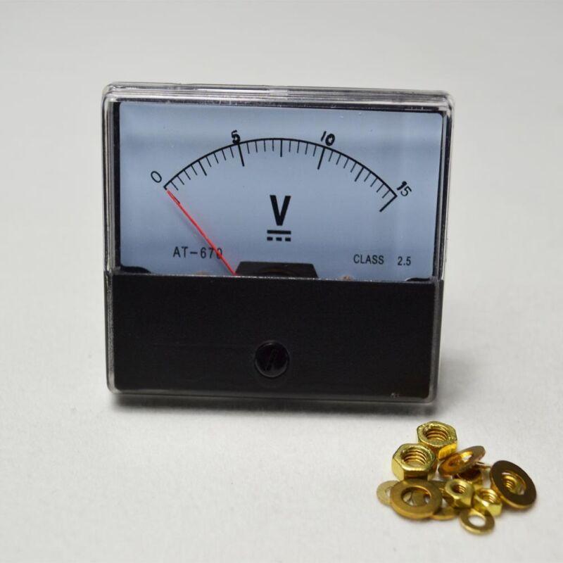 15v Voltmeter Panel Meter  DC 0-15V— Analog Volt Voltage