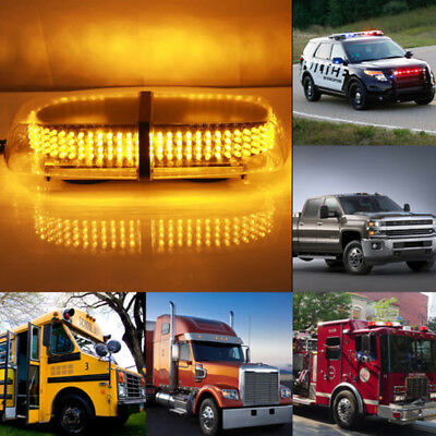240 Led Light Bar Roof Top Emergency Beacon Warning Flash Strobe Lamp Amber