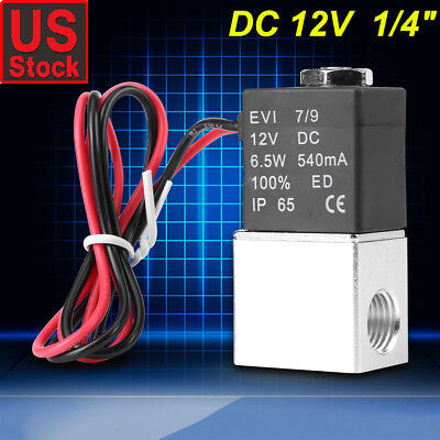 12v Dc 14 2-way Normally Closed Pneumatic Aluminum Electric Solenoid Air Valve