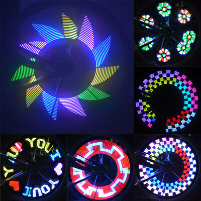 - 32 Pattern LED Colorful Bicycle Wheel Tire Spoke Signal Light For Bike Safety