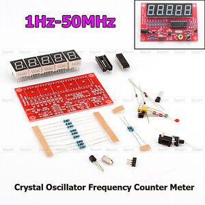 Digital LED DIY Sets 1Hz-50MHz Crystal Oscillator Frequency Counter Meter Kits