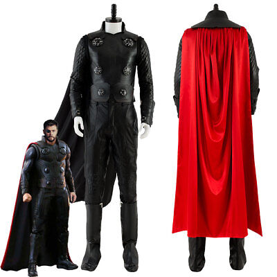 The Avengers 3: Infinity War Thor Odinson Cosplay Costume Halloween Outfit Cloak (Thor Costume)