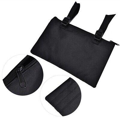 Rollstuhl Seite Tasche (Rollstuhl-Tasche Seitentasche für Armlehne Zubehör Wasserdicht Schwarz)