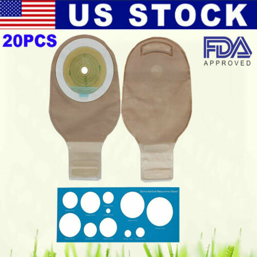 20PCS Ostomy Colostomy Ileostomy Stoma Drainable Closure Pouch Bag