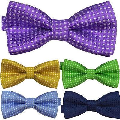 15 Colors Baby Girl Boy Kids Tied Party Wedding Tuxedo Dots Bow Tie Necktie New