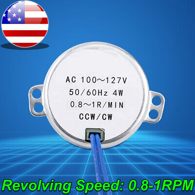 Ac 100-127v 4w Synchronous Motor 5060hz Ccwcw Geared Motor 0.8-1rpm