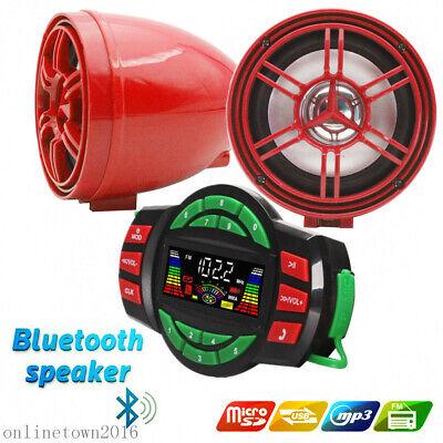 UTV ATV waterproof marine speakers Bluetooth audio Amplifier US STOCK