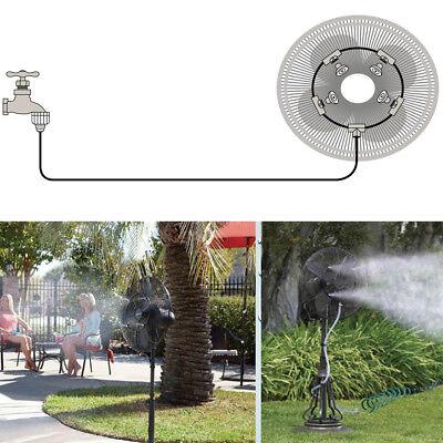Outdoor Misting Fan Cooler Water Cooling Portable Patio Mist Garden Kit 4m Hose