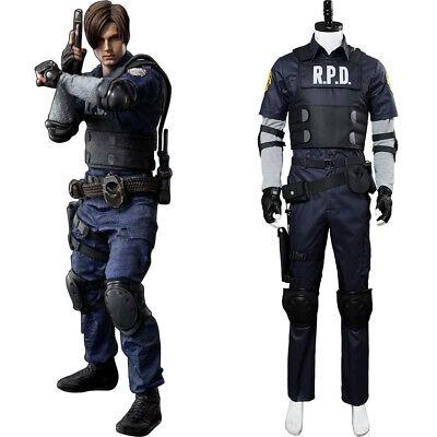 Biohazard:RE 2 Leon·Scott·Kennedy Cosplay Costume Uniform Police Suit - Biohazard Suit Halloween