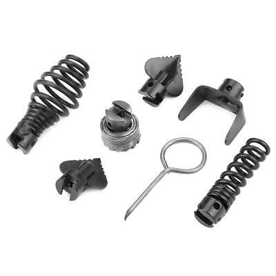 7pcs Manganese Drain Cleaner Machine 16mm Combination Cutter Head Kit Steel