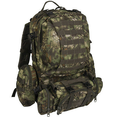Mil-Tec Defense Pack Assembly Hiking Outdoor Backpack Tactical Gear Mandra Wood