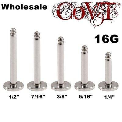 16G Wholesale Replacement Post Labret Monroe Lip Tragus Ring Piercing Bulk Lot  ()
