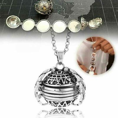 Expanding 5 Photo Locket Necklace Silver Ball Angel Wing Pendant Memorial Gifts