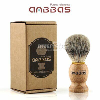 Anbbas Barber Hair Bear Shaving Brush Best Badger Hair Wooden Handle Men's
