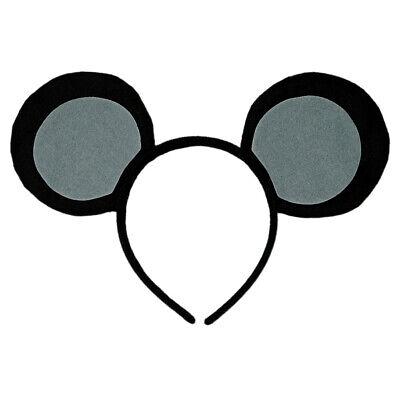 Mice Ears Costume (Gray & Black Mouse-A-Like Ears Headband - Cute 3 Blind Mice Mickey Costume)