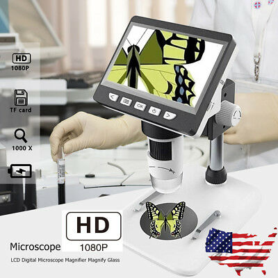 1000x 4.3 Hd 1080p Portable Desktop Lcd Digital Microscope Magnifier Magnify Us