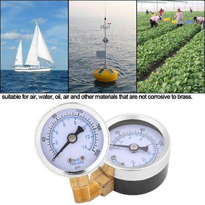 0-200psi 0-14bar Hydraulic Water Manometer 40mm Dial Meter 18 Npt Mf