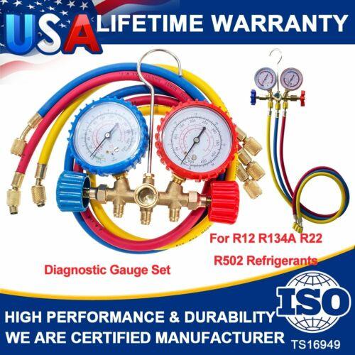 A/C AC Manifold Gauge Sets Quick Coupler Air Conditioner Refrigeration R134A R12