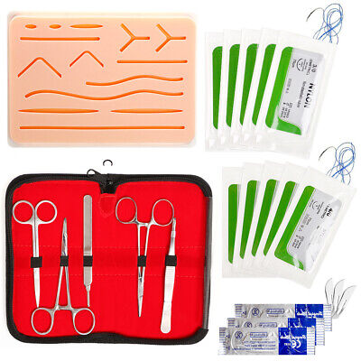 Student Practice Suture Skin Wound Surgical Kit Medical Training First Aid Bags