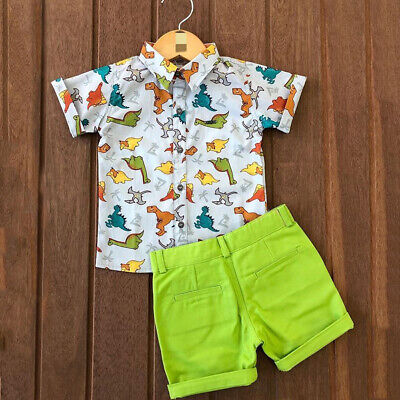 US 2PCS Toddler Baby Boy Gentleman Tops T-shirt Short Pants Outfits Set Clothes (Toddler Shirt Set)