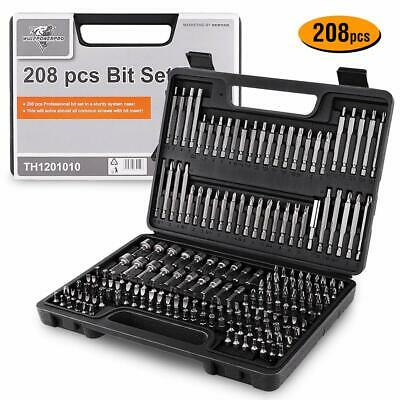 Magnetic Screwdriver Bits Set Impact Ready Drill Driver Bits 208 Pieces Tool Kit comprar usado  Enviando para Brazil