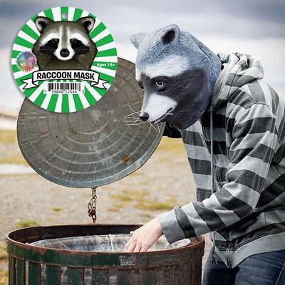 Halloween Animal Head Mask For Adults Raccoon Latex Mask Cosplay Props (Raccoon Mask)
