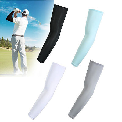 5 Pair Outdoor Cooling Arm Sleeves Cover UV Sun Protection Basketball Sport