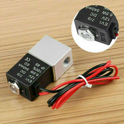 18-12v Dc 2 Way Normally Closed Electric Solenoid Air Gas Liquid Water Valve