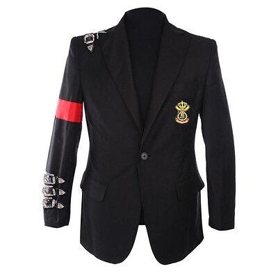 Rare Classic MJ Michael Jackson BAD Jacket Informal Buckle Badge Suit Blazers