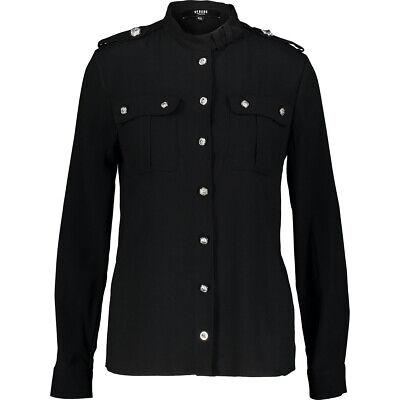 VERSACE VERSUS Black Military Style Shirt BNWT