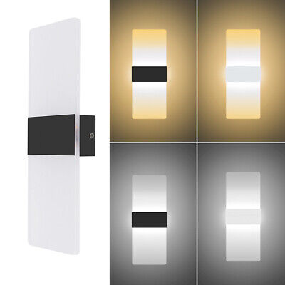 LED Wall Light Up Down Cube Indoor Bedside Outdoor Sconce Lighting Lamp Fixture