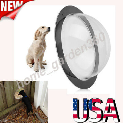 Pet Peek Fence Window Dome Insert  Clear Outside Landscape Viewer For Dogs Cats