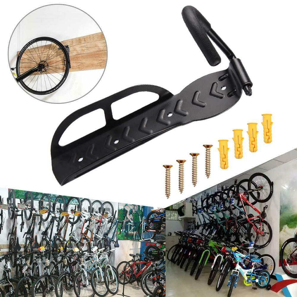 4 8 2x Pcs Steel Bike Rack Stand Storage Wall Mounted Hook Hanger Bicycle Holder