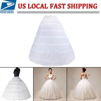 BRIDAL PETTICOAT CRINOLINE HOOP SKIRT SLIP WEDDING GOWN HALLOWEEN COSTUME DRESS](Hoop Skirt Halloween Costumes)