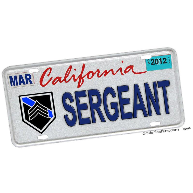 California Police Sheriff Sergeant Rank Law Enforcement License Plate