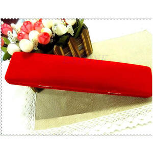 New red velvet jewelry presentation show case display for Red velvet jewelry gift boxes