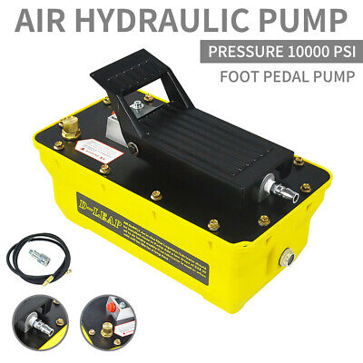 Air Powered Hydraulic Pump 10000 Psi Rubber Single Acting Foot Operated Pump
