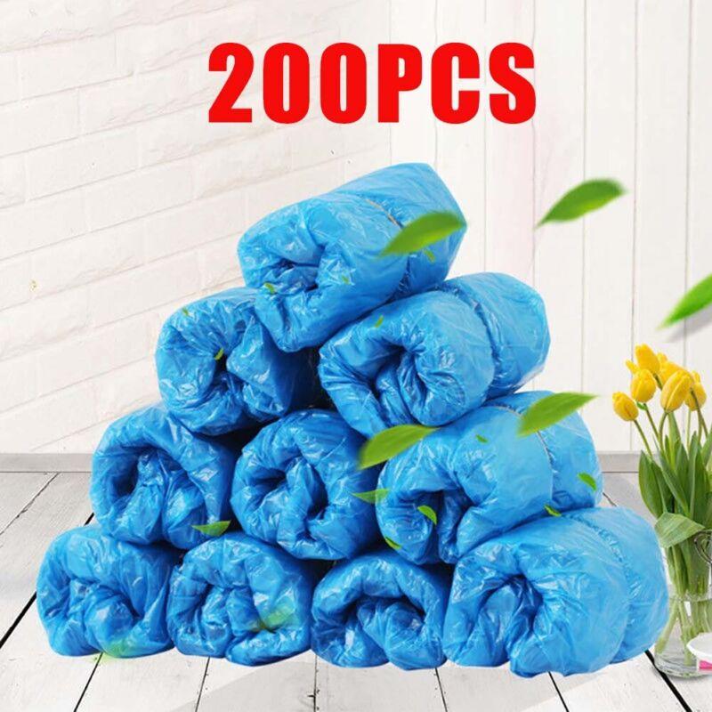 200Pcs Disposable Anti Skid Durable Non Woven Fabric Non-slip Shoe Covers Fine
