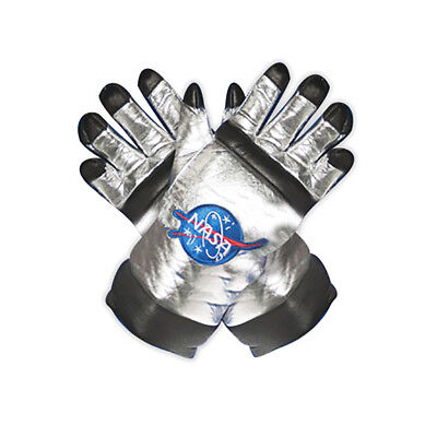 NASA Astronaut Adult Costume Gloves - One Size - Silver