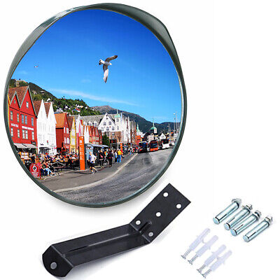 24 Inch Convex Security Mirror Curved Safety Wide Angle Driveway Outdoor Indoor