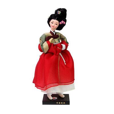 "Korean Traditional Handicraft Hanbok Dolls Hwangjini 11"" Collectible Figure Gift"