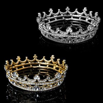 Cheap Tiara Crowns (Full Round Tiaras Bridal Crown Wedding Rhinestone Headpiece Hair Jewelry Cheap)