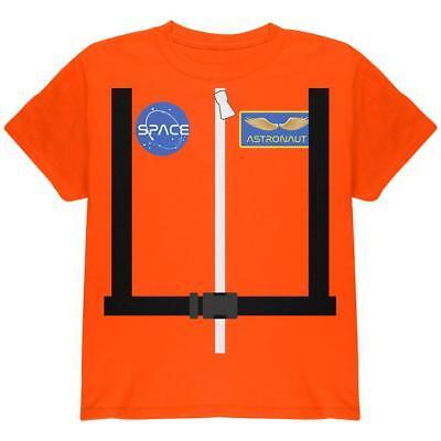 Costume Orange Escape Suit Youth T Shirt (Halloween-astronaut)